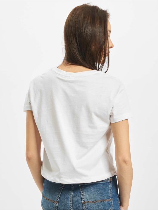 Urban Classics Camiseta Ladies Cropped Tunnel blanco
