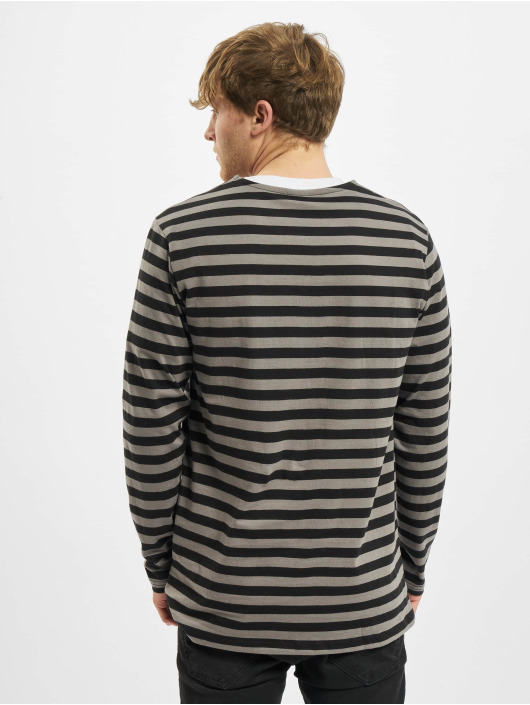 Urban Classics Camiseta de manga larga Regular Stripe LS gris