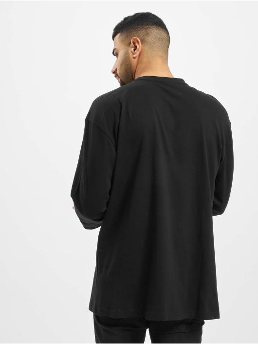 Urban Classics Camiseta de manga larga Boxy Big Contrast Pocket negro