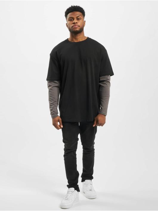 Urban Classics Camiseta de manga larga Oversized Shaped Double Layer negro