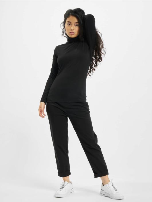 Urban Classics Camiseta de manga larga Ladies Basic Turtleneck LS negro