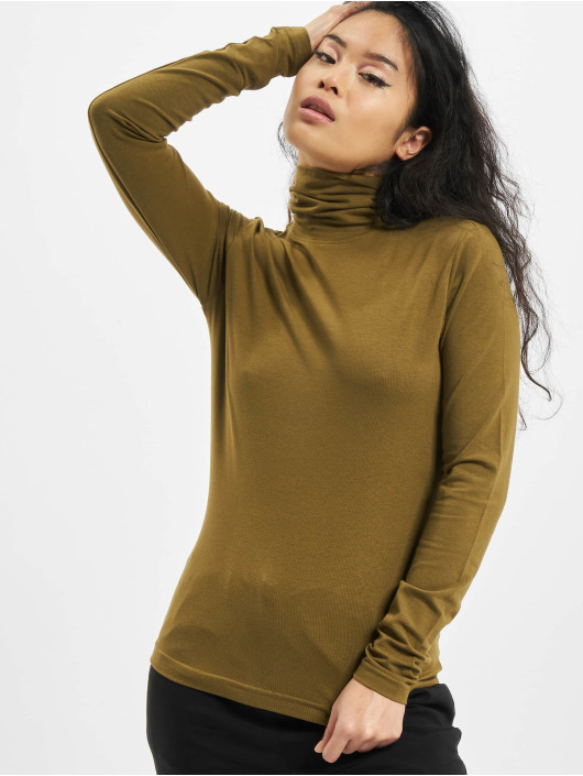 Urban Classics Camiseta de manga larga Ladies Basic Turtleneck LS oliva