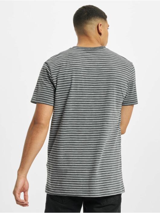 Urban Classics Camiseta Basic Stripe gris