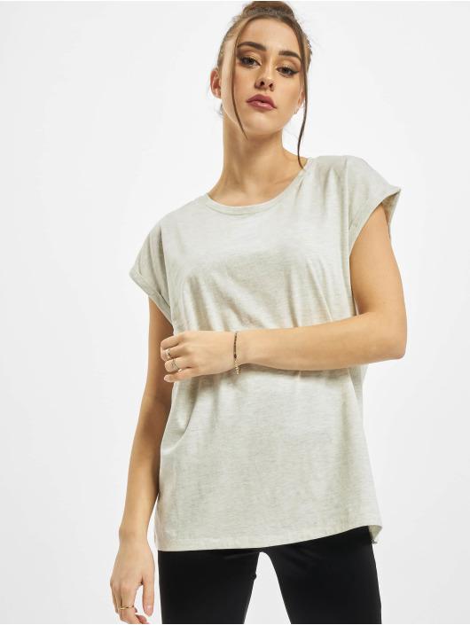 Urban Classics Camiseta Ladies Extended Shoulder gris