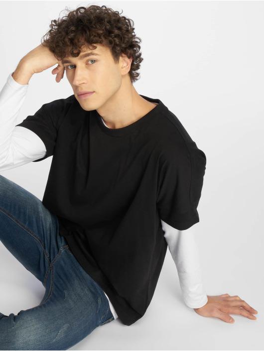 Urban Classics Camiseta Oversize Cut On Sleeve negro