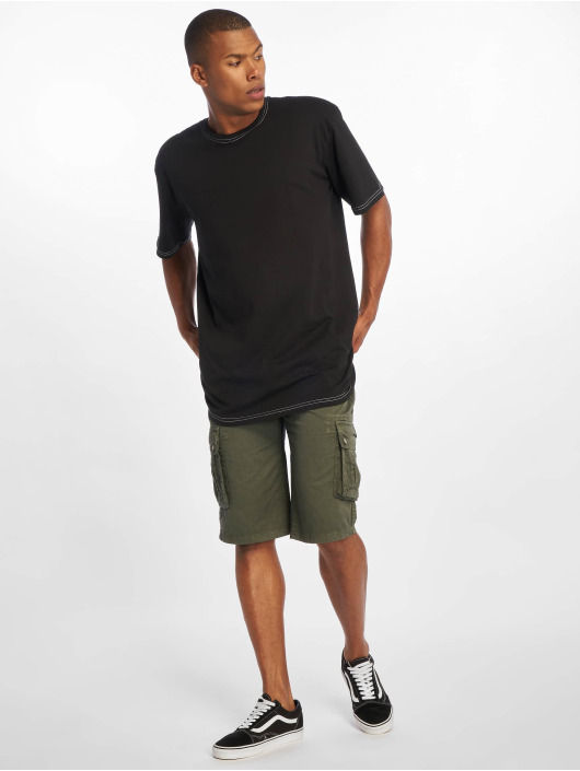 Urban Classics Camiseta Heavy Oversized Contrast Stitch negro