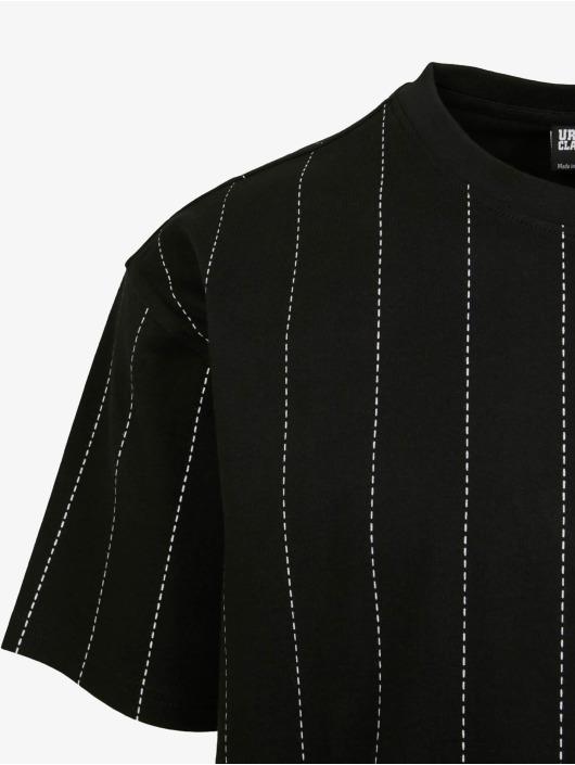 Urban Classics Camiseta Oversized Pinstripe negro