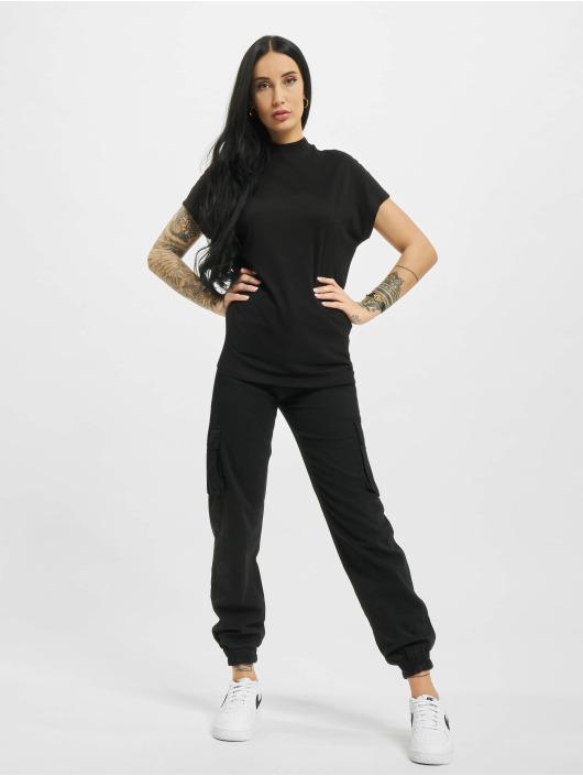 Urban Classics Camiseta Oversized Cut On Sleeve Viscose negro