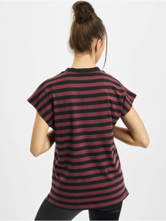 Urban Classics Camiseta Ladies Y/D Stripe Tee rojo