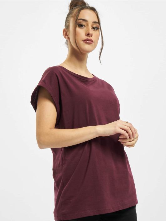 Urban Classics Camiseta Ladies Extended Shoulder rojo