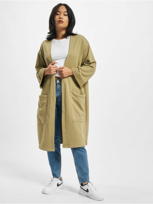 Urban Classics Cardigan Ladies Oversized Terry khaki
