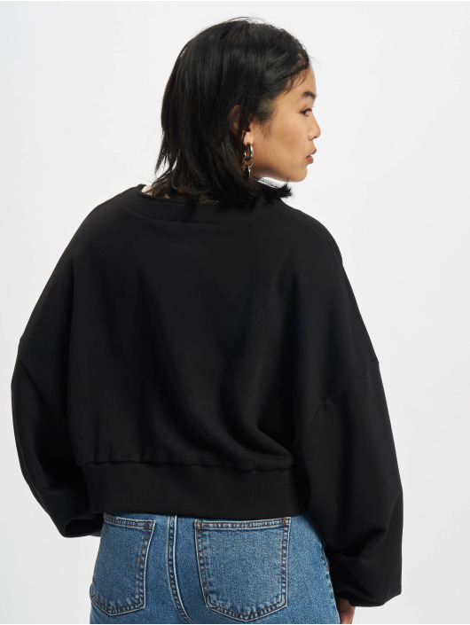 Urban Classics Cardigan Ladies Organic Oversized Short Terry nero