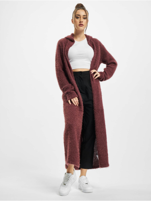 Urban Classics Cardigan Ladies Hooded Feather rouge