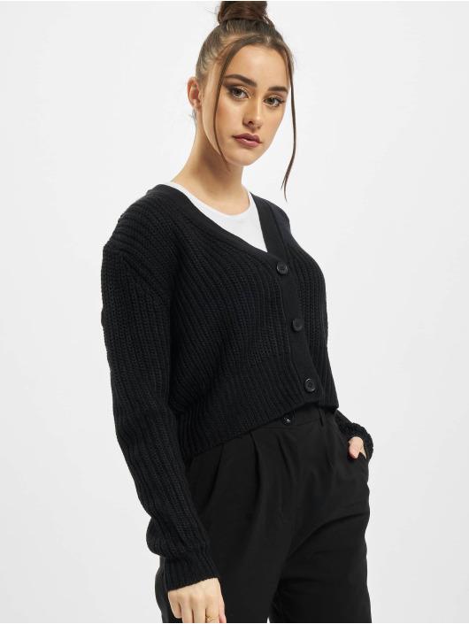 Urban Classics Cardigan Ladies Short svart