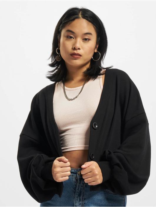 Urban Classics Cardigans Ladies Organic Oversized Short Terry čern