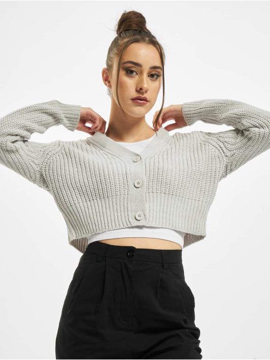 Urban Classics Cardigans Ladies Short grå
