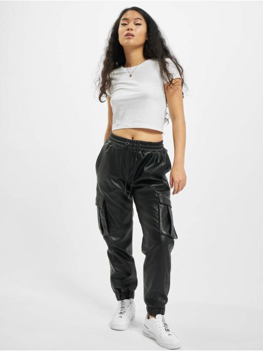 Urban Classics Cargo pants Faux Leather black