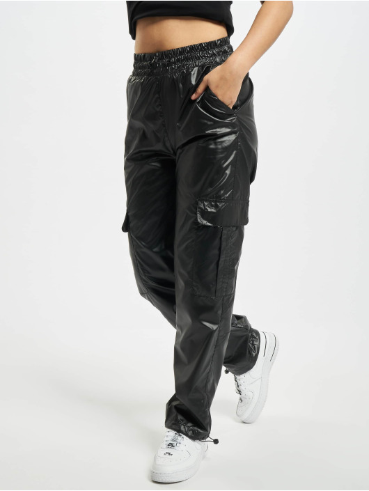 Urban Classics Cargo pants Shiny Cargo black