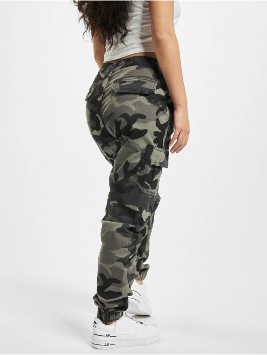 Urban Classics Cargo pants Ladies High Waist camouflage