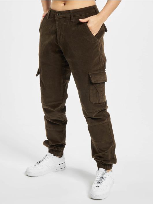 Urban Classics Cargo pants Ladies High Waist olive