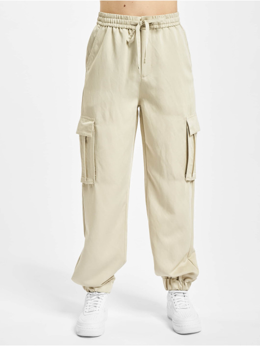 Urban Classics Cargohose Ladies Viscose Twill beige