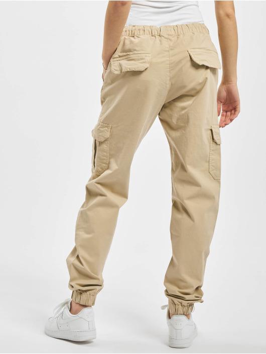 Urban Classics Cargohose Ladies High Waist Cargo Jogging beige