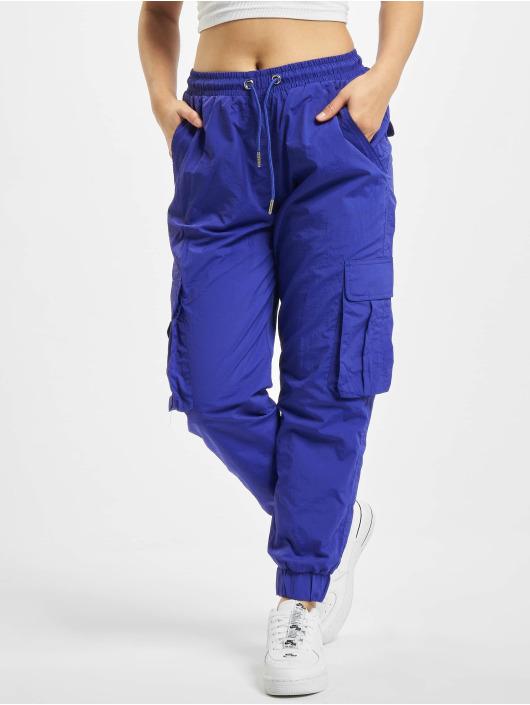 Urban Classics Cargohose Ladies High Waist Crinkle Nylon violet