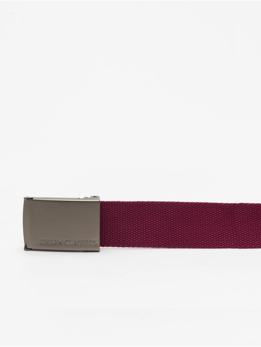 Urban Classics Ceinture Canvas rouge