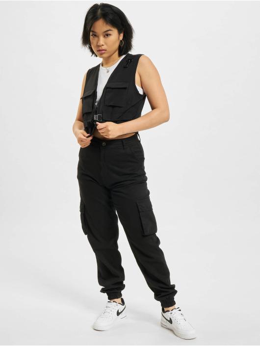 Urban Classics Chaleco Ladies Short Tactical negro