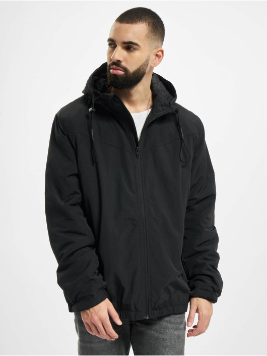 Urban Classics Chaqueta de entretiempo Hooded Easy negro