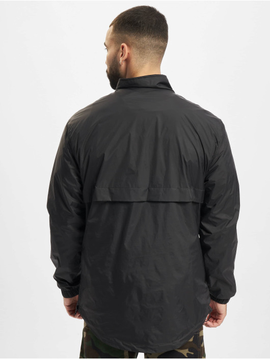 Urban Classics Chaqueta de entretiempo Stand Up Collar Pull Over negro