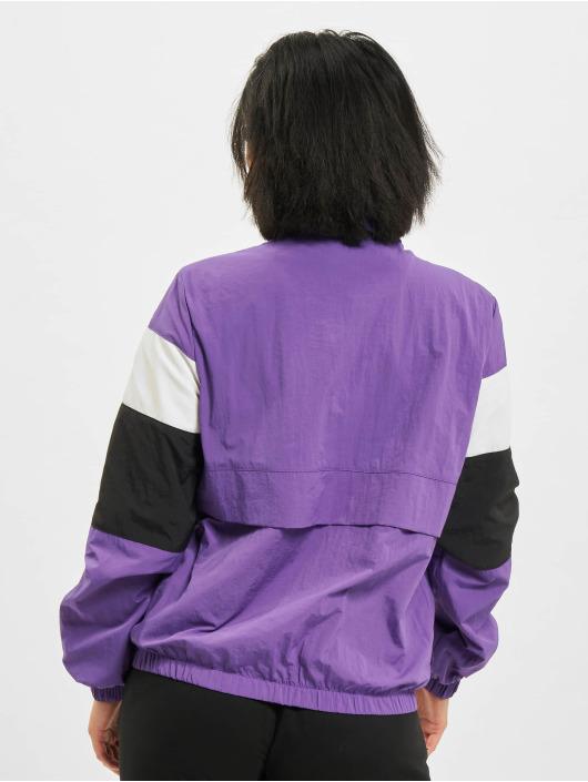 Urban Classics Chaqueta de entretiempo 3-Tone Crinkle púrpura