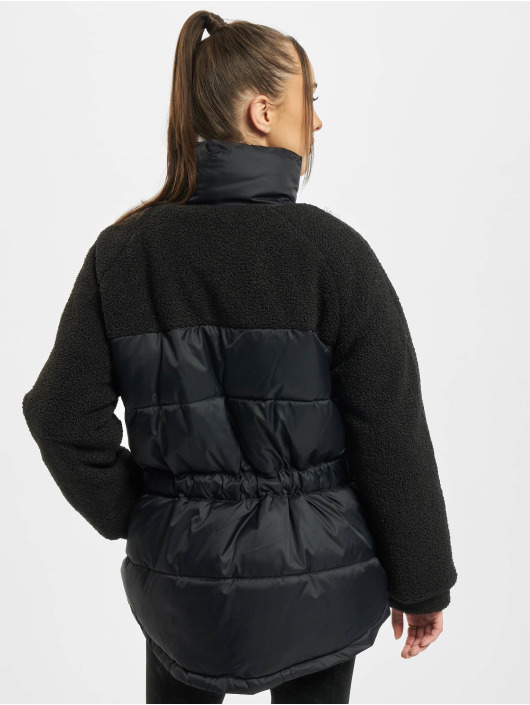 Urban Classics Chaquetas acolchadas Ladies Sherpa Mix negro