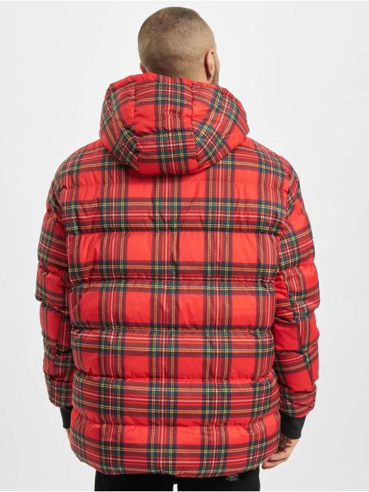 Urban Classics Chaquetas acolchadas Hooded Check rojo