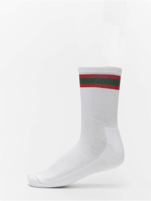 Urban Classics Chaussettes 2-Pack Stripy Sport blanc