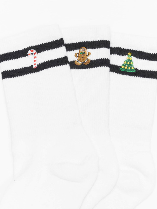 Urban Classics Chaussettes Christmas Sporty blanc