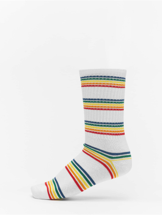 Urban Classics Chaussettes Rainbow Stripes Socks 2-Pack gris