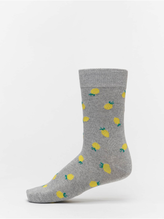 Urban Classics Chaussettes Recycled Yarn Fruit 3-Pack gris