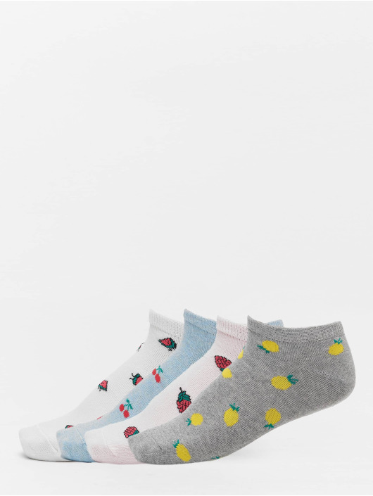 Urban Classics Chaussettes Recycled Yarn Fruit Invisible 4-Pack gris