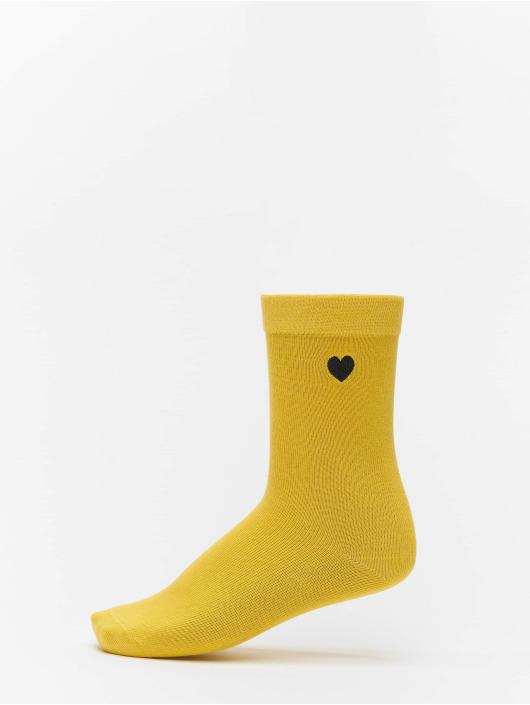 Urban Classics Chaussettes Heart Socks 3-Pack noir