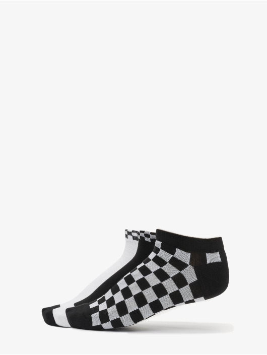 Urban Classics Chaussettes Sneaker Socks Checks 3-Pack noir