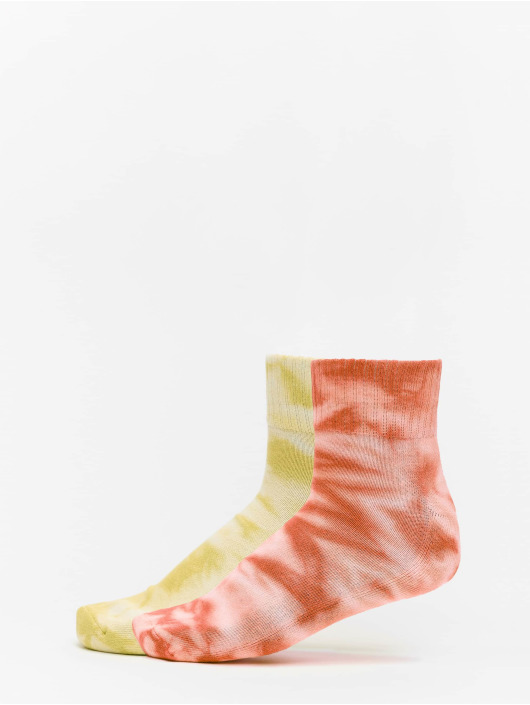 Urban Classics Chaussettes Tie Dye Socks Short 2-Pack orange
