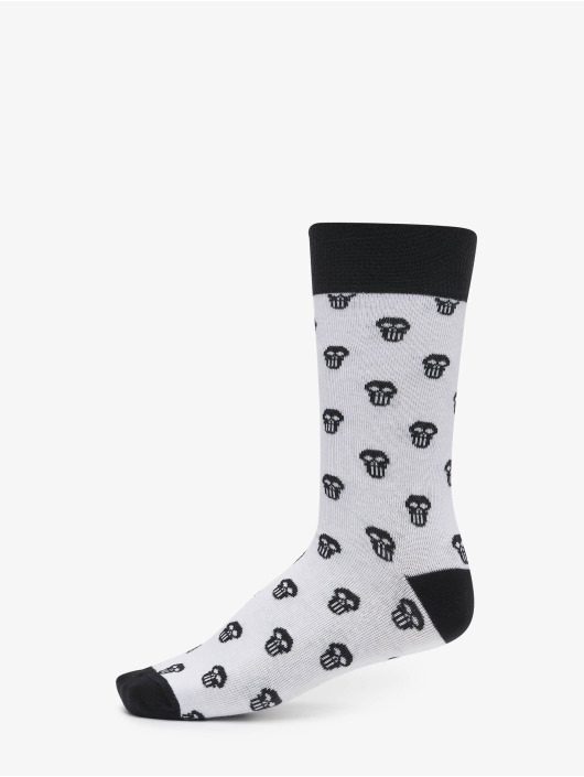 Urban Classics Chaussettes Skull Allover 2-Pack rouge