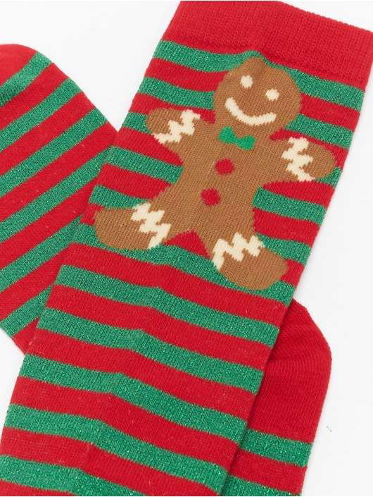 Urban Classics Chaussettes Christmas Overknees rouge