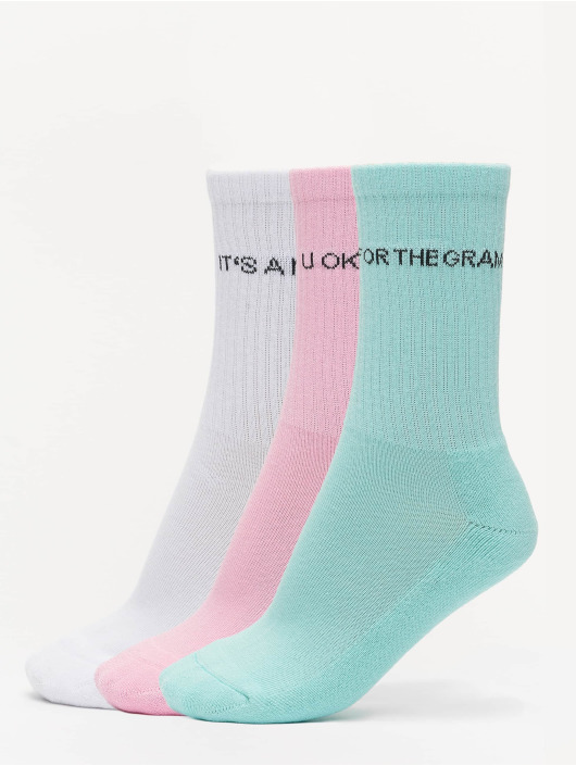 Urban Classics Chaussettes Wording Socks 3-Pack vert