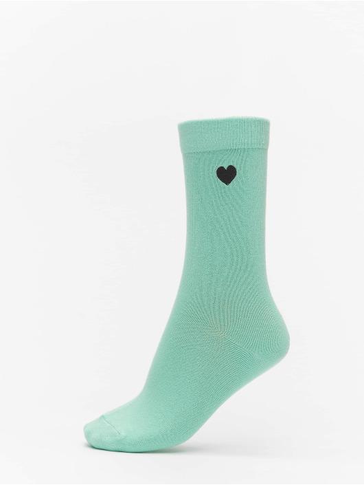 Urban Classics Chaussettes Heart Socks 3-Pack vert