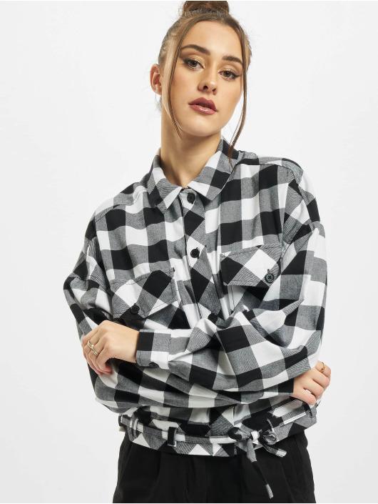 Urban Classics Chemise Ladies Short Oversized Check noir