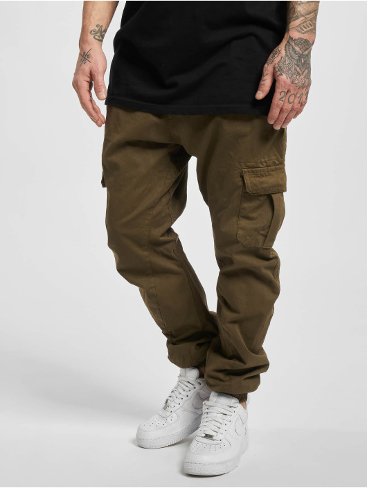 Urban Classics Chino bukser Cargo brun