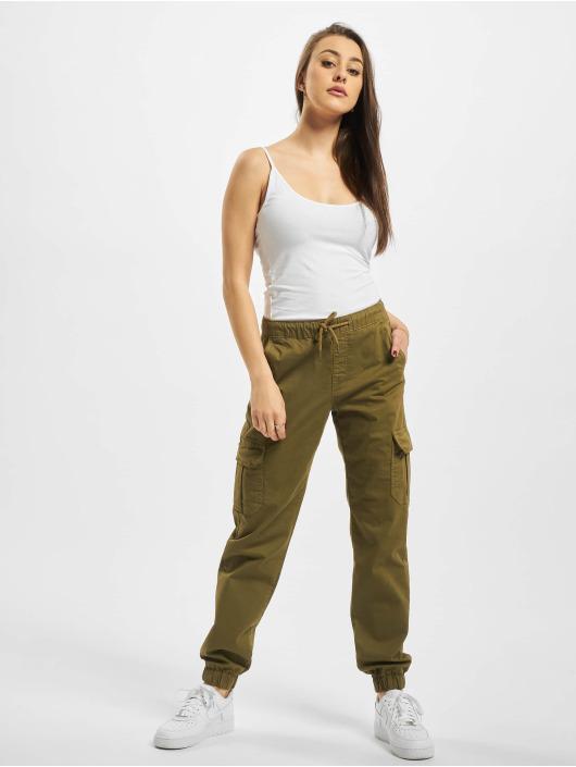Urban Classics Chino bukser Ladies High Waist Cargo Jogging oliven