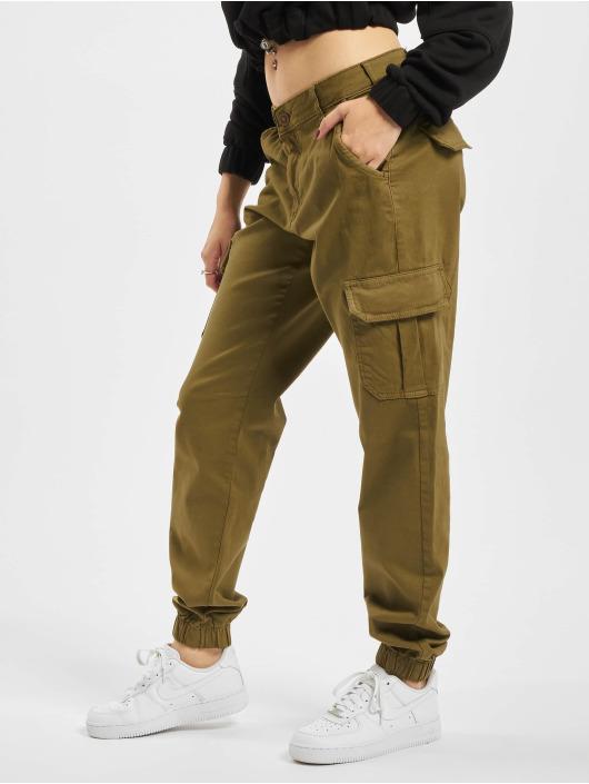 Urban Classics Chino bukser High Waist Cargo oliven